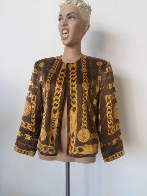 Sweat Blazer brown-ocher silk