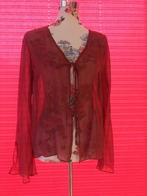 Bolero brick red silk