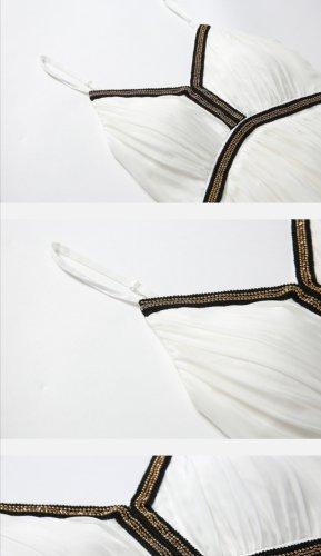 100% Fashion Vestido strapless blanco