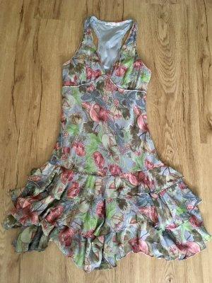 les petites collection Flounce Dress multicolored
