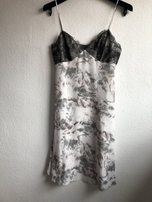 All Saints Mini vestido gris claro-rosa Seda