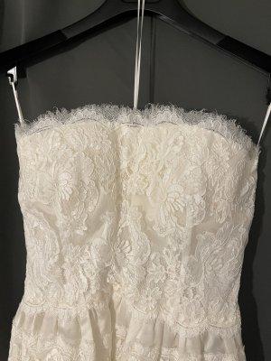 Dolce & Gabbana Suknia ślubna kremowy-w kolorze białej wełny Jedwab