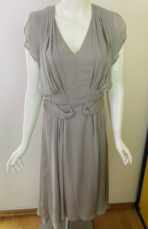 Comptoir des Cotonniers Midi Dress light grey silk