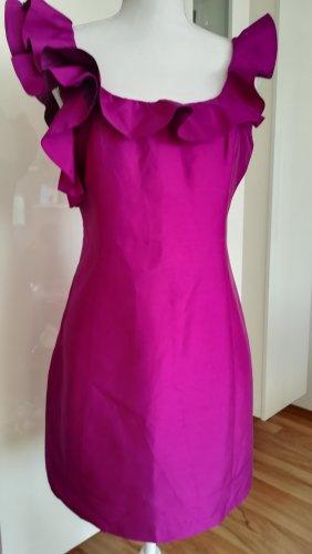 Oasis Vestido estilo flounce púrpura Seda