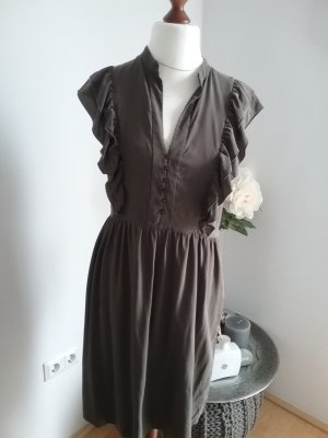 Cacharel Shortsleeve Dress khaki silk
