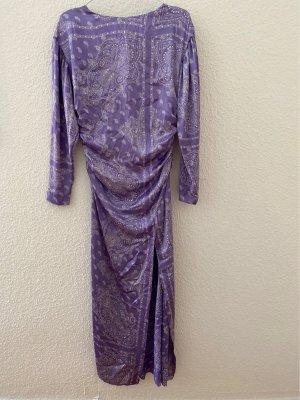 Seidenkleid Kleid Lang Lila