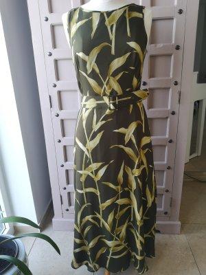 Laurèl Vestido estilo flounce amarillo limón-verde oliva