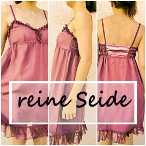 Seidenkleid made in Germany Gr. M neu Volant Rüsche Beere
