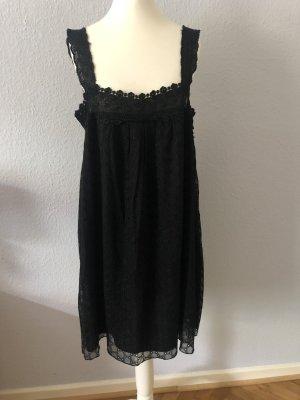 Gold Hawk Lace Dress black silk