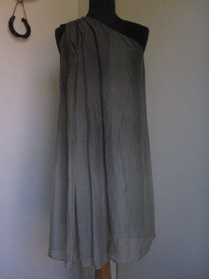 American Retro Sukienka na jedno ramię Wielokolorowy Jedwab