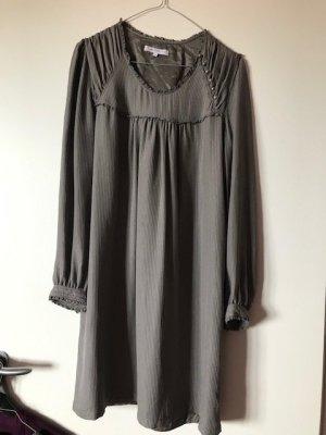 Paul & Joe Sister Empire Dress grey brown silk