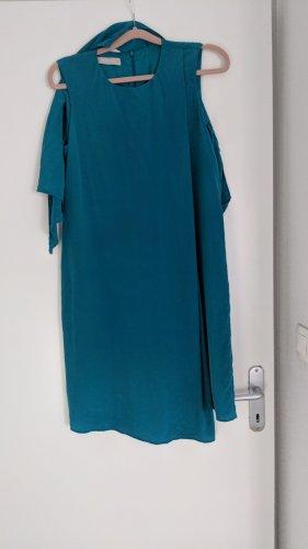 Stefanel Mini-jurk cadet blauw Zijde