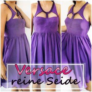 Seidenkleid Versace for H&M Designerkleid Gr. 36 S lila Chiffon Party Blickfang