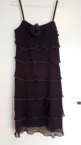 1.2.3 Paris Chiffon Dress black-natural white silk