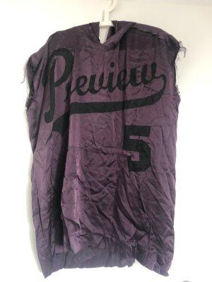 5 Preview Vestido de manga corta negro-violeta oscuro