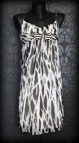 Diane von Furstenberg Robe à bretelles noir-blanc soie