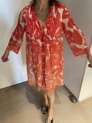 Diane von Furstenberg Robe chiffon rouge soie
