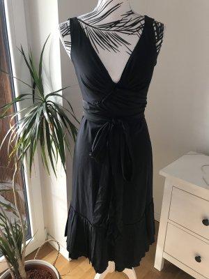 Prada Vestido a media pierna negro-azul oscuro Seda