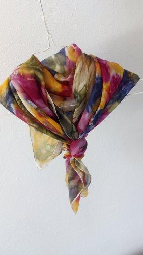 Seidenmalerei Tuch Schal bunt