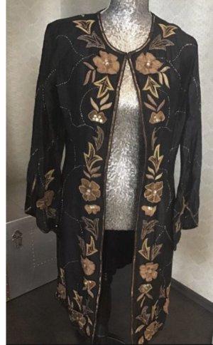 Nostalgia Krótki płaszcz Wielokolorowy Jedwab