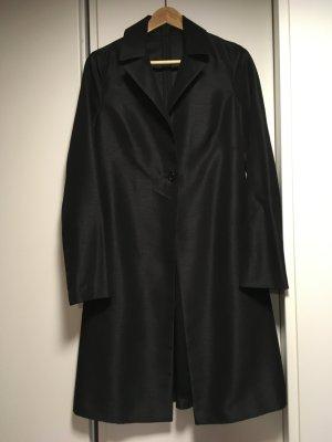 Custommade Between-Seasons-Coat black silk