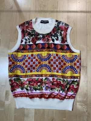 Dolce & Gabbana Top in seta multicolore