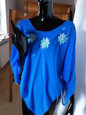 Poncho azul Seda