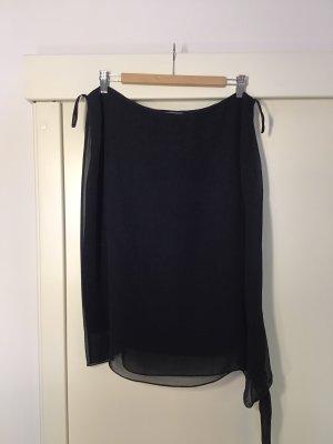 Miss Elegance Jupe en soie noir