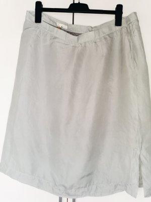emanuel Jupe en soie argenté-gris clair