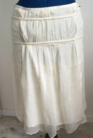 Full circle Silk Skirt oatmeal silk