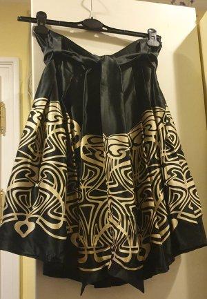 Zara Woman Silk Skirt black-cream