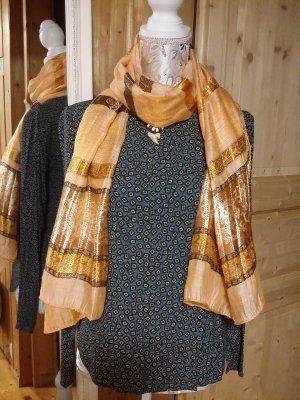 Zijden sjaal licht Oranje-oranje
