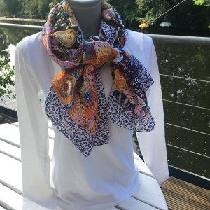 Zijden sjaal korenblauw Zijde