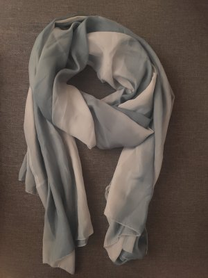 PASSION Silk Scarf slate-gray-pale blue