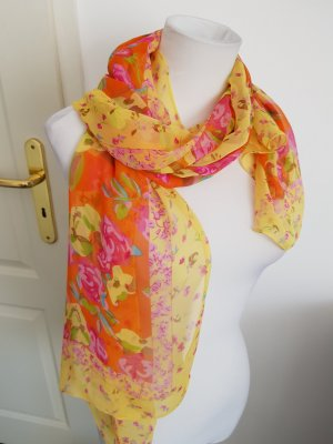 Zijden sjaal geel-goud Oranje