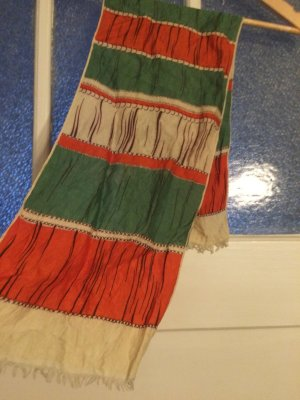 Vintage Zijden doek veelkleurig Zijde