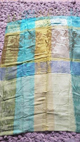 Zijden doek veelkleurig