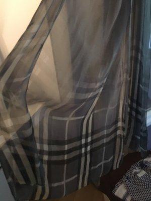 Burberry Bufanda de seda gris-marrón grisáceo Seda