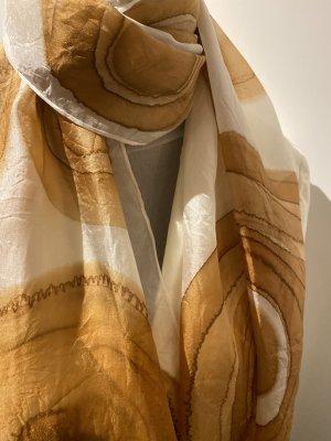 Unikat Silk Scarf brown silk