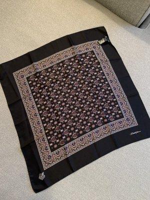Dolce & Gabbana Bufanda de seda negro-marrón oscuro