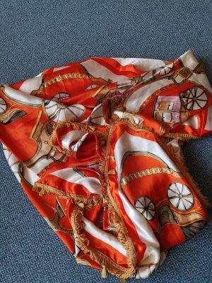 Sciarpa di seta bianco-arancione