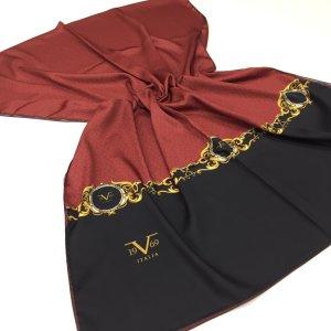 Sciarpa di seta carminio-nero