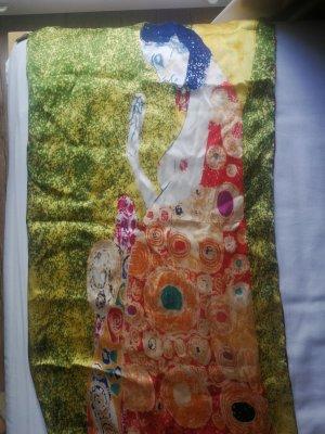 NoName Écharpe en soie multicolore