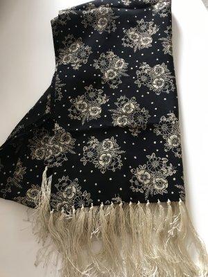 cerruti 1881 Sciarpa di seta nero-crema