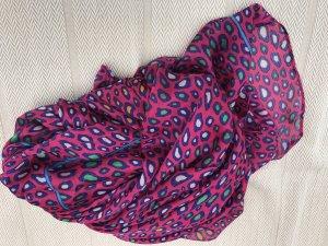 Sciarpa di seta multicolore Tessuto misto