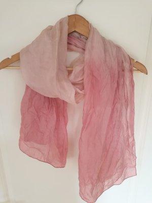 Bufanda de seda rosa claro