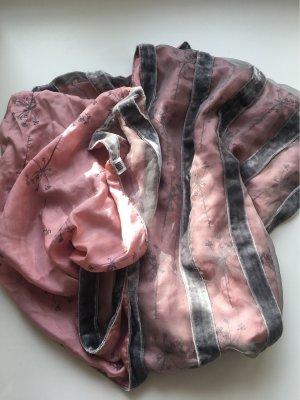 senas Jedwabny szal szary-różowy