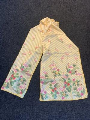 Écharpe en soie jaune-rose