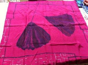 Unikat Écharpe en soie violet