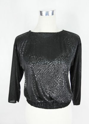 Seidenshirt Gr. S Shirt Fledermaushirt Longsleeve Vintage
